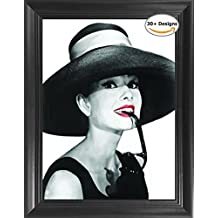 """Audrey Hepburn Breakfast at Tiffany's Framed 3D Lenticular Picture - 14.5x18.5"""" - Unbelievable Life Like Framed 3D Art Pictures, Lenticular Posters, Cool Art Deco, Unique Wall Art Décor"""