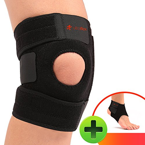 Ultra Flex Athletics | Best Knee Brace & Support Open Patella,One Size (Neoprene Sports Knee Brace)