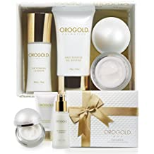 OROGOLD 24K Luxury Skin Care Set 1 | Beauty Gift Set for Women | Anti Aging Kit with Foaming Cleanser, Deep Day Moisturizer and Salt Scrub | Leave A Little Sparkle Wherever You Go