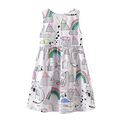 HowJoJo Girls Sleeveless Dresses Cute Cartoon Summer Skirt Dress 4T by HowJoJo (Image #1)