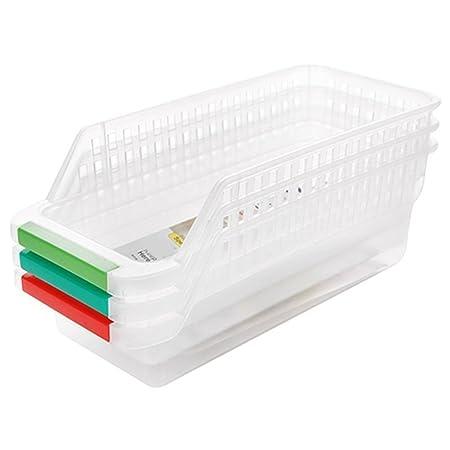 Plástico Cocina Nevera Nevera Rack de almacenamiento con mango ...