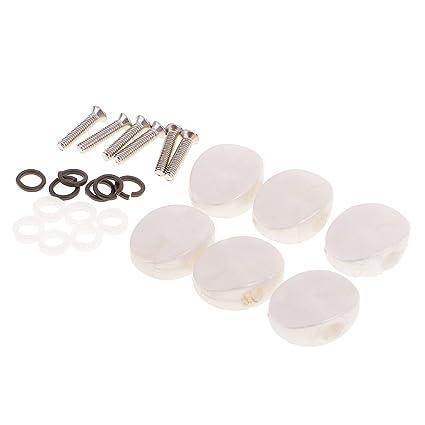 6 Stück Universal Mechaniken Knöpfe Stimmwirbel Button für Gitarre