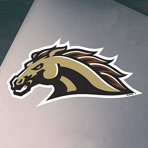 Gold Bronco Head - Nudge Printing Western Michigan University Bronco Head Brown and Gold Car Decal Bumper Sticker Laptop Sticker