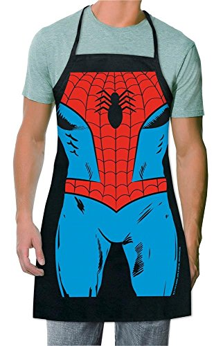 Marvel Spider-Man Be The Character Apron for men,Happy Chef aprons ,black bib apron