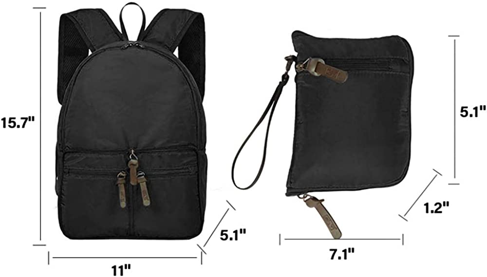 Peicees Foldable Backpack Lightweight Hiking Daypack Waterproof Packable Travel Camping Bag for Men Women