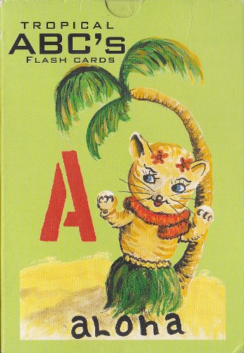 Tropical ABC's Flash Cards - From Surf to Huts, Island - Huts Hawaii