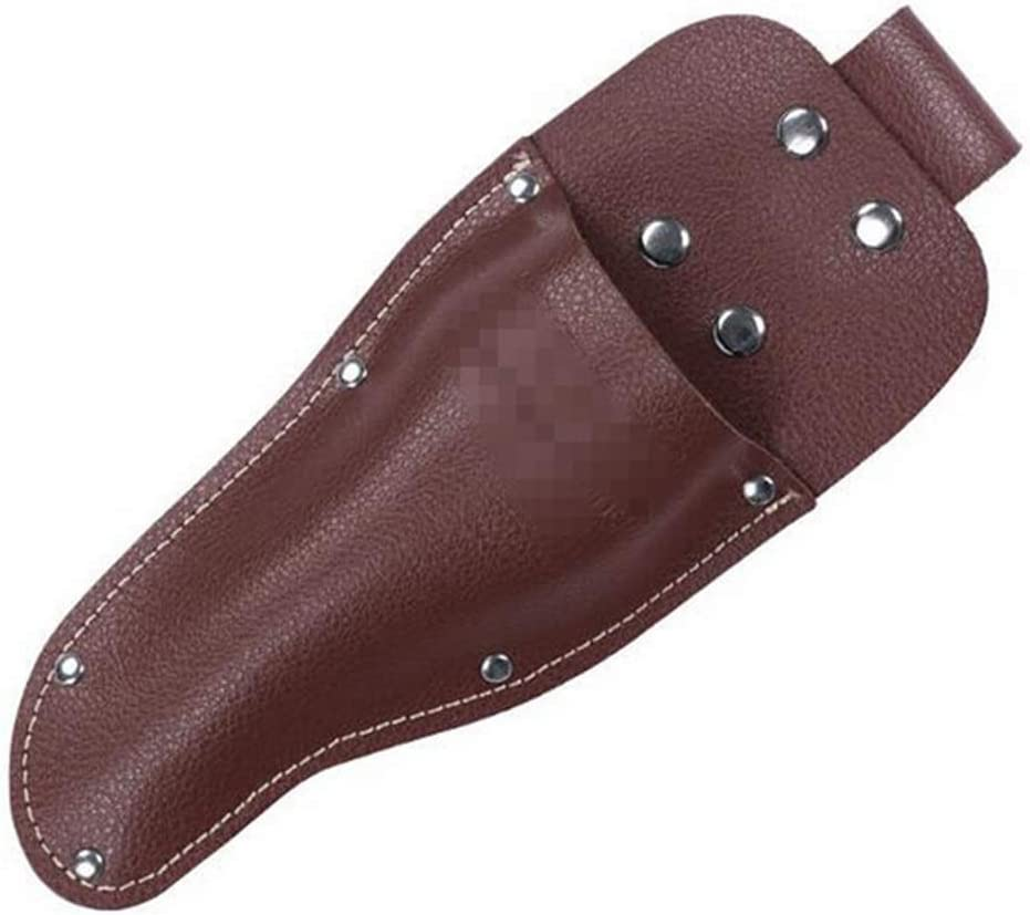 Rluii Garden Pruner Sheath/Premium PU Leather Holster Protective Case Cover Scabbard for Gardening Pruning Shears Scissor/Garden Scissors Sheath for Carry Gardening Tool