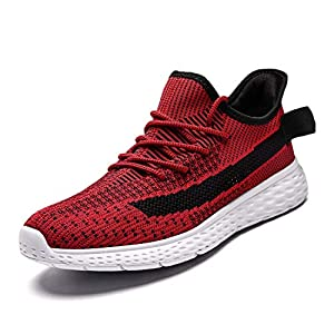GSLMOLN Running Shoes Men Fashion Mesh Ultra Lightweight Sport Gym Shoes Mens Cross Training Slip-On Casual Shoes for Walking