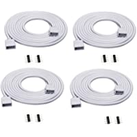 ZITRADES(TM 4PCS 2M Long Extension Cable Connect Female Plug for RGB 3528 5050 Strip with 8pcs 4pin connectors Male