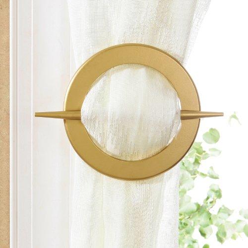 Santorini Design Decorative 2-set Window Curtain Holdbacks (Gold) by Santorini (Image #1)