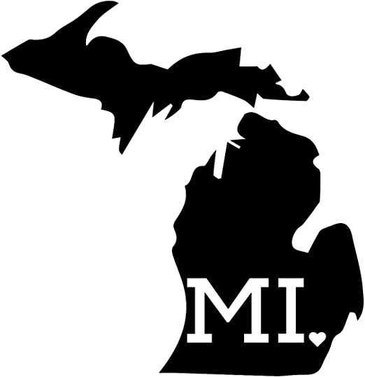 Michigan Sticker Vinyl Bumper Sticker Decal Waterproof 5