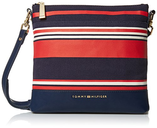 Tommy Hilfiger Crossbody Bag for Women Maisie, Red/Navy