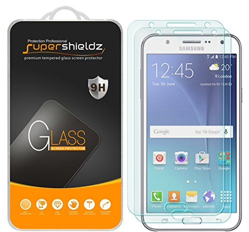 [2-Pack] Supershieldz for Samsung Galaxy J7 Neo Tempered Glass Screen Protector, Anti-Scratch, Bubble Free, Lifetime Replacement Warranty