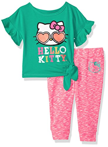 Hello Kitty Baby Girls Jogger Pant Set with Fashion Top, Ceramic, 18M