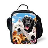 Llama 3D Printing for Kids Crossbody Shoulder Food Bag Reusable Food Containers Lunchbox Dog Animal-2
