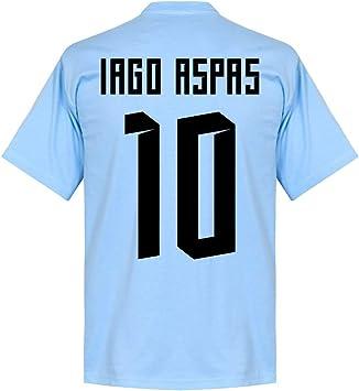 Celta Vigo Iago Aspas 10 Team Tee - Cielo, XS, Azul (Sky Blue): Amazon.es: Deportes y aire libre