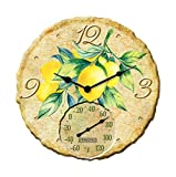 Clock W/Thrm Lemons 14''