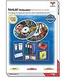NOVAJET 65 Labels (Per A4 Size Sheet) Multi Purpose Self Adhesive Labels (100 Sheets)