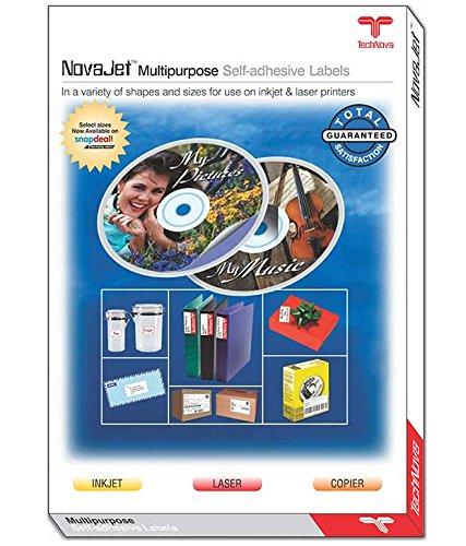 NOVAJET 56 Labels  Per A4 Sheet  Size Multi Purpose Self Adhesive Labels  100 Sheets  Labels   Stickers