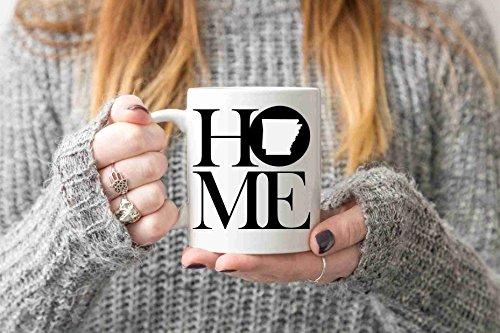Arkansas Mug State Mug Coffee Mug Home Mug Homesick Gift Personalized Mug Custom Mug No Place Like Home Friend Gift LDR Gift Long Distance