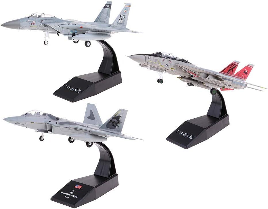 - F-14 Fighter 20x19x13cm Escala 1:100 Modelo Avi/ón de Combate Aeroplano Ornamento Decorativo