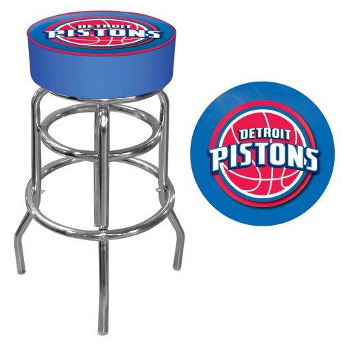 """Trademark Global NBA Detroit Pistons 31"""" Padded Swivel Bar"""