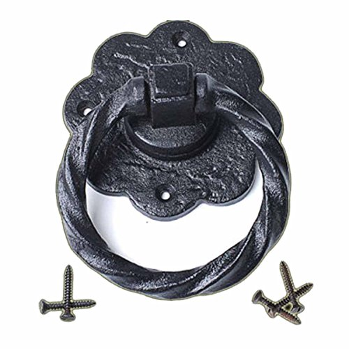 (Ring Pull Cabinet Or Drawer Or Door Wrought Iron Black 5'' | Renovator's Supply)