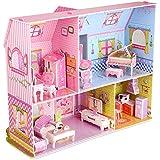 DIY 3D Puzzle,Dollhouse Kits with Furniture, Kids House 3D Jigsaw Puzzle Toys, Princess Castle Building DIY Game (92 Pieces)