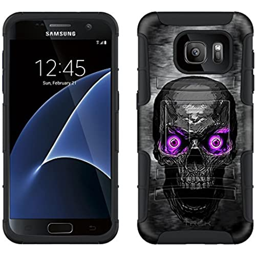 Samsung Galaxy S7 Armor Hybrid Case Skull Colored Eyes Purple 2 Piece Case with Holster for Samsung Galaxy S7 Sales