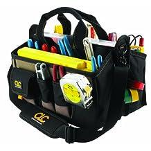Custom Leathercraft 1529 16-Pocket, 16-Inch Center Tray Tool Bag