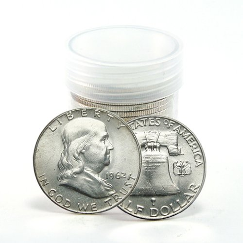Lot of 10 Franklin Half Dollar 90% Silver Circulated Coins Mixed ()