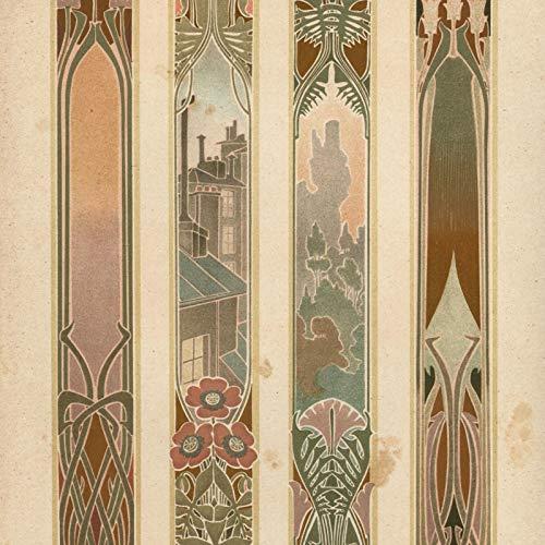 (R. Beauclair art c.1910-20 Art Nouveau German color lithographed print beautiful)