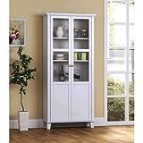 Homestar 2 Door Storage Cabinet, White (White)