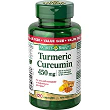 Nature's Bounty Turmeric Curcumin 450mg Value Size, 120 Count