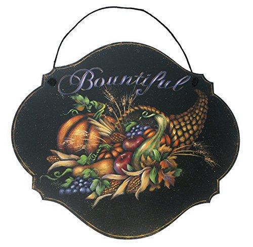 Porch Entry - Bountiful Harvest Cornucopia Wood Sign   9