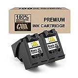 CMCMCM Remanufactured 2PK 302XL Black Ink Cartridges Compatible with HP ENVY 4520 4525 4524 4527 4522 4528 Officejet 3833 4658 3834 3830 3831 4654 4650 Deskjet 3630 2130 3636 1110 3633 3632 3638