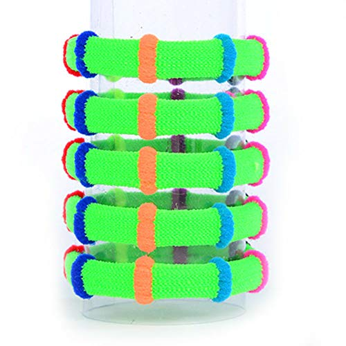 20Pcs Elastic Candy Color Hair Rope Rubber Bands Scrunchie Gum Girl Kid Ponytail (Color - green)