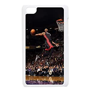 iPod Touch 4 Case White he99 lebron james dunk nba sports art basketball SUX_885931