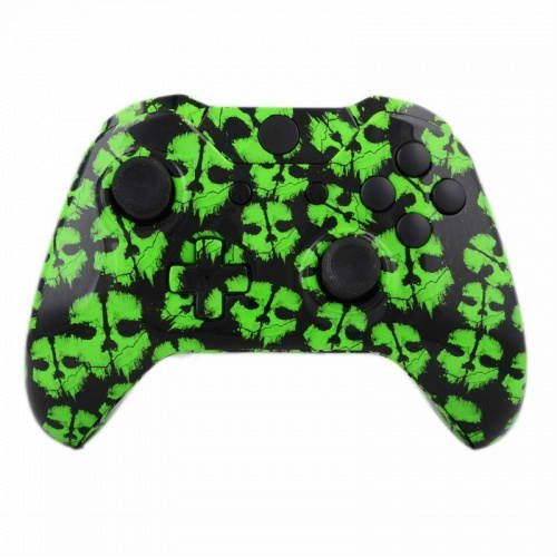 Green Ghost Part (ModFreakz™ Shell Kit Hydro Dipped Green Ghosts For Xbox One Model 1537 Controllers)