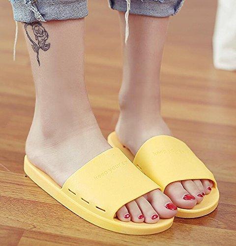 Smiley Dimensione Donna 39 Da colore Face Antiscivolo Yellow Sandali Pantofole Bagno Morbide Suole Suxian Con Yellow 38 Bellissimo qwa6I7It