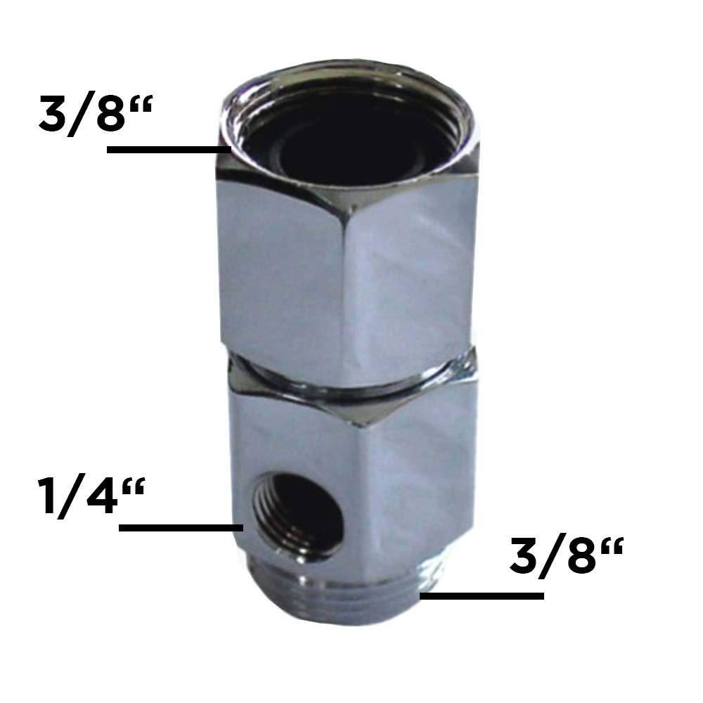 Con salida lateral de 1//4 pulgadas para una llave de paso con manguera de /ósmosis Adaptador Incluye alargador de sistema de /ósmosis Side by Side Frigor/ífico 3//8 PureOne MF-02A