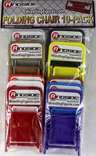 FOLDING CHAIR 10-PACK - RINGSIDE COLLECTIBLES EXCLUSIVE WWE TOY WRESTLING ACTION FIGURE ACCESSORIES - Exclusive Wwe Toy