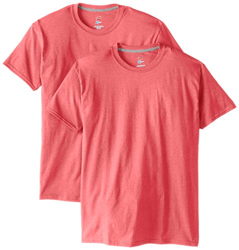 Hanes Men's 2 Pack X-Temp Performance T-Shirt, Neon Pink Heather, - Neon Pink Code