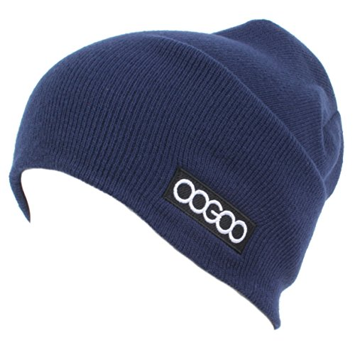 OOGOO [XPRIN] Beanie Collection Short Long Acrylic Knit Cap Warm (Long Navy) ()