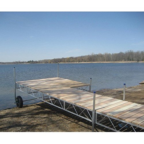 AMRP10575 * (40Ft) Patriot Docks Roll-In Patio Dock With Cedar Deck (Rollin Patio Dock)