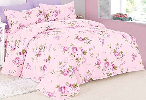 Spirit Linen Hotel 5Th Ave Prestige Home Collection 6 Piece Sheet Set, Queen, Pink Lavender Floral Floral Flat Sheet