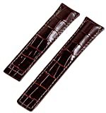 20mm Brown Croco Leather Interchangeable Watch Band Strap- Made for Tag Heuer