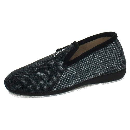 GEMA GARCIA 7511-1 Zapatillas Cerradas Hombre Zapatillas CASA Negro 39
