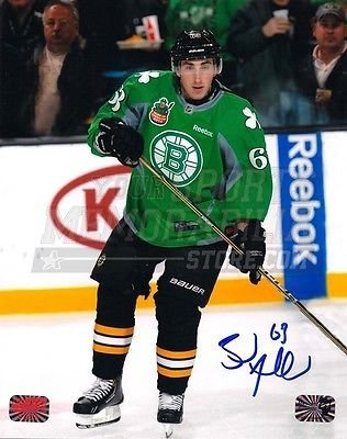 f35806b3f Amazon.com  Brad Marchand Boston Bruins Signed Autograph St Patrick s Day  Jersey on Ice 8x10  Sports Collectibles