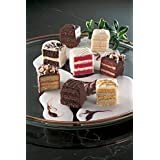 Chocolate Lovers Petit Fours - Bite Size Frozen Dessert Appetizers (60 Piece Tray) - Combination of Rich and Royal Chocolate Petit Fours